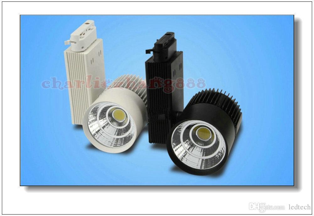 LED Rail Lighting 20W / 30W Tkanina Light Czarny / Biały Shell LED Sufit Light LED Reflektor Lampa Projekcyjna Lampa Ścienne Oświetlenie
