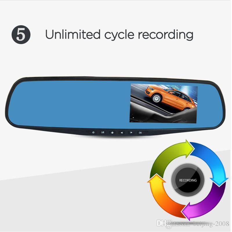 Full HD 1080P Dvr a specchio auto Doppia fotocamera 4,3