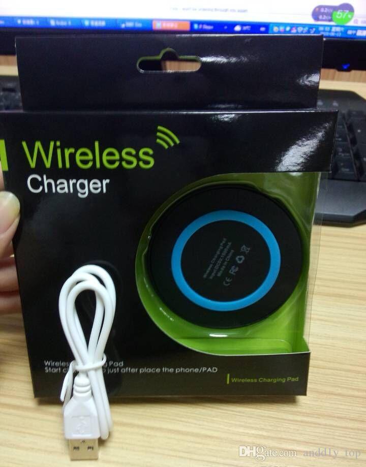 Para iPhone X 8 más del teléfono celular cargador Qi Wireless Mini Pad de carga para el dispositivo de Qi-abled para Samsung S7 S8 note8