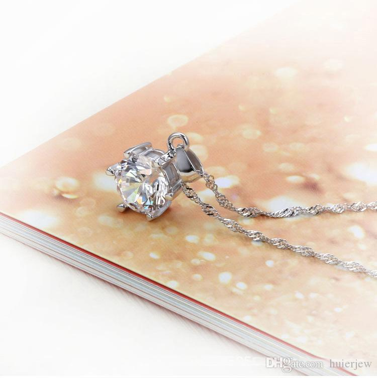 Ensemble de bijoux de demoiselle d'honneur pour mariage or comme 925 chaînes en argent sterling Collier pendentif boucle d'oreille pour les femmes pierres précieuses anneaux parti ensembles de bijoux