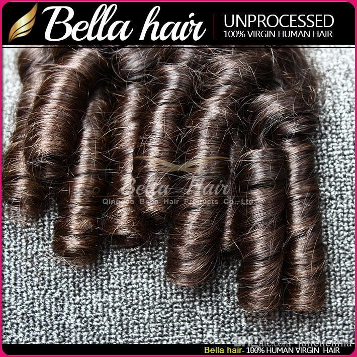 Bella Brésilien Funmian Couleur Naturelle Couleur Wavy Spring Bouncy Spring Extensions / usine