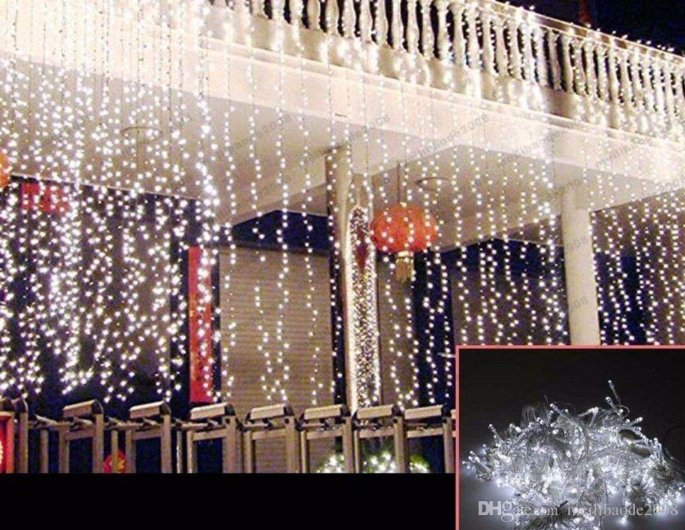 Outdoor 3 Mt * 3 Mt 300 Led Vorhang Lichterketten Wasserdicht Weihnachten Hochzeit Festival Hintergrund Dekoration Flash Fairy String MYY1661