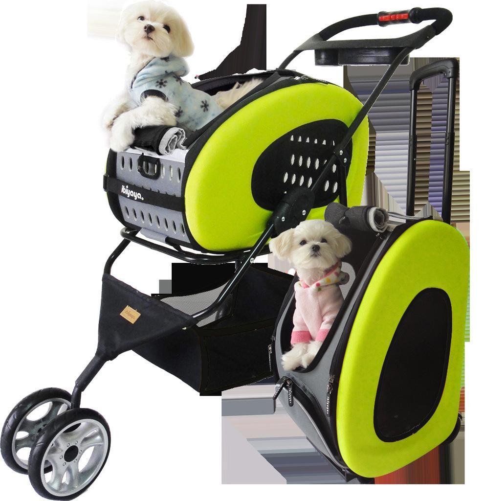 Ibiyaya pet fs1009 trolley dog bag trolley bag cart folding cat trolley  luggage