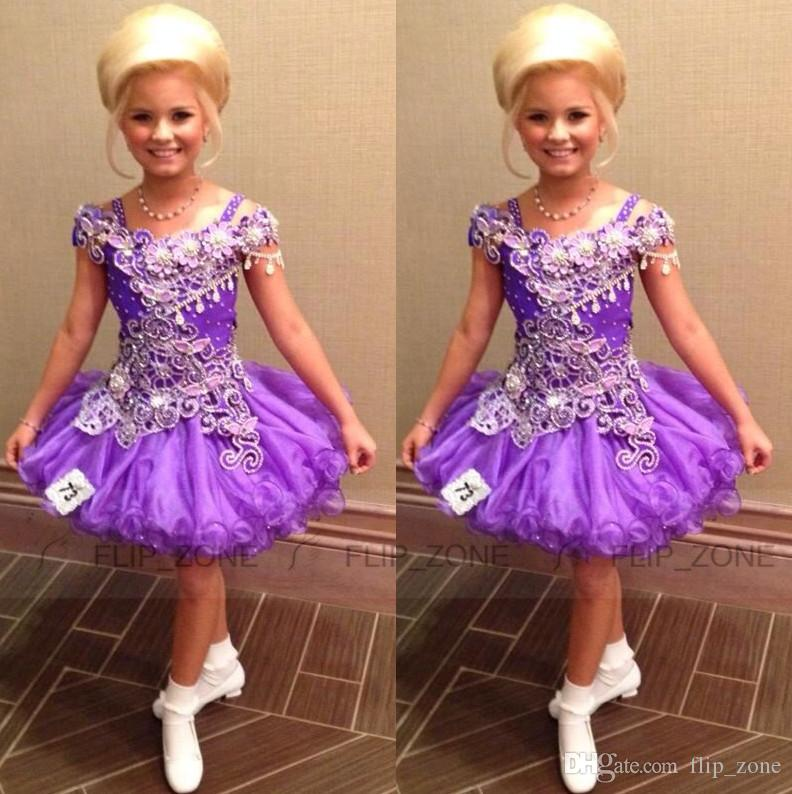 Luxury Short Glitz Little Girl\'S Pageant Dresses For Teens With ...