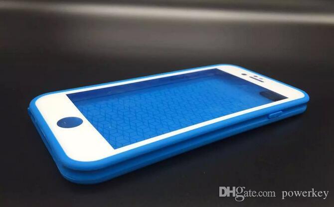 100% Mühürlü Su Dayanıklı Yumuşak TPU su geçirmez tam vücut vaka Jel Ön Case Arka iPhone 6 6 s iphone 6 artı s
