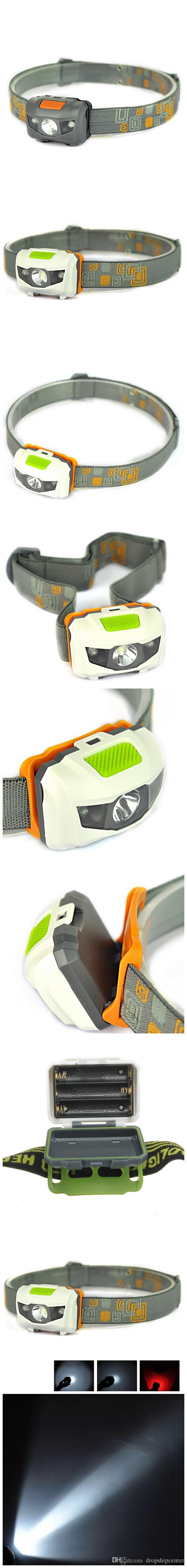 Mini Taşınabilir Far 600LM Far Cree R3 Farlar Ile 2 LED El Feneri Farlar Torch Lanterna Kafa Yürüyüş Kamp