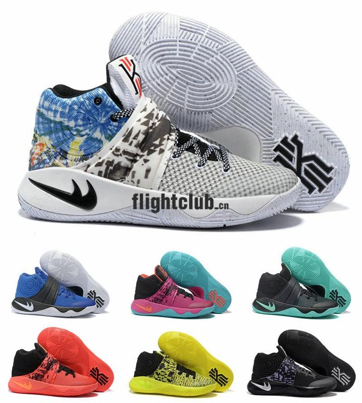 2016 Kyrie 2 Tie Dye Bright Crimson Bhm All Star Kyrie Irving Men  Basketball Shoes Irving Basketball Sneakers With High Quality For Sale Shoes  Men ...