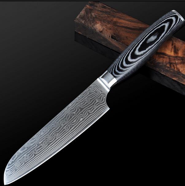 global damascus kitchen knives 5 inch santoku knife japanese vg10