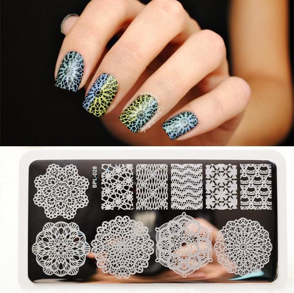 Original Bp L028 Round Lace Nail Art Stamp Template Image Plate