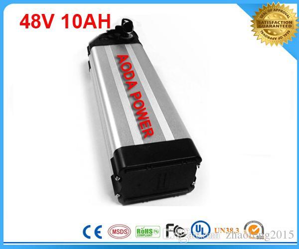 Электрический блок батарей Иона лития батареи 48v 10ah велосипеда с BMS ,заряжателем 54.6 V 2A