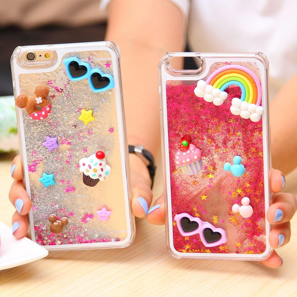 Pour Iphone 6 Fantasy 3D Cartoon Bling Glitter Étui Liquide pour Apple iphone 6 4.7 '' Hard Back Cover New Arrivals