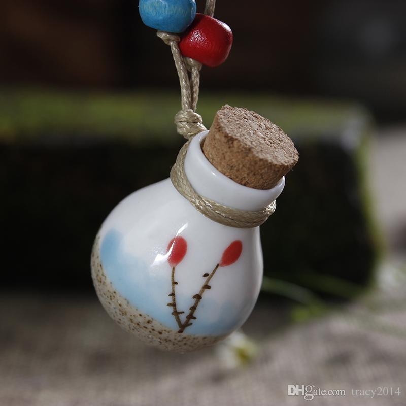 Aceite esencial difusor collares flores pequeño vial colgante collar de aromaterapia colgante vintage deseando botella de perfume colgante collares