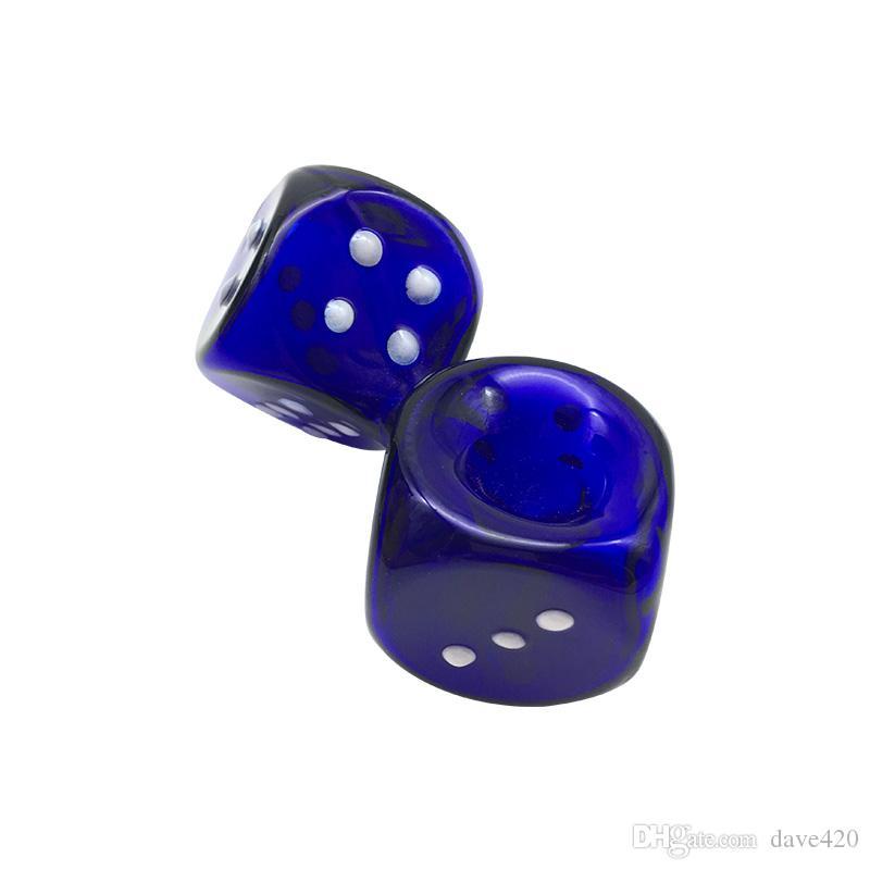 Новое Прибытие Кости Форма Дизайн 4.1 Дюймов Курительная Трубка Стекло Ручной Выдувной Ручной Трубы Синий Цвет