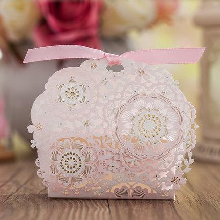 New elegant wedding favor boxes pink white laser cut flora paper new elegant wedding favor boxes pink white laser cut flora paper candy boxes with bowknot wedding theme beautiful gift boxes silver party favor boxes junglespirit Gallery