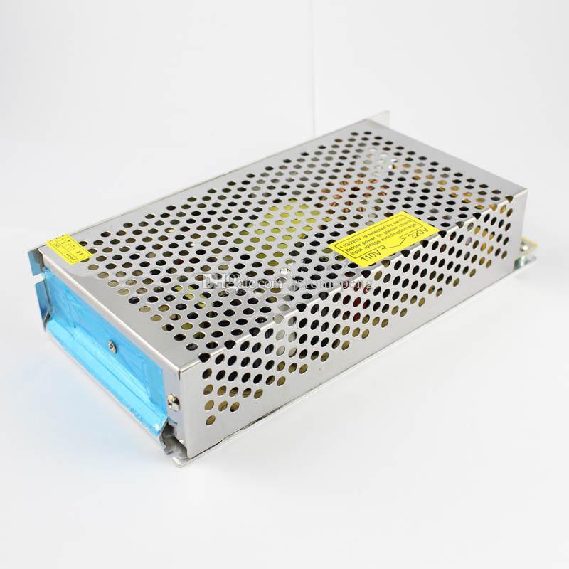 Echtes 200W LED Schaltnetzteil 110V 120V 220V AC auf 12 Volt 16.6A 24V DC 8.3A Aluminiumgehäuse Nicht wasserdicht
