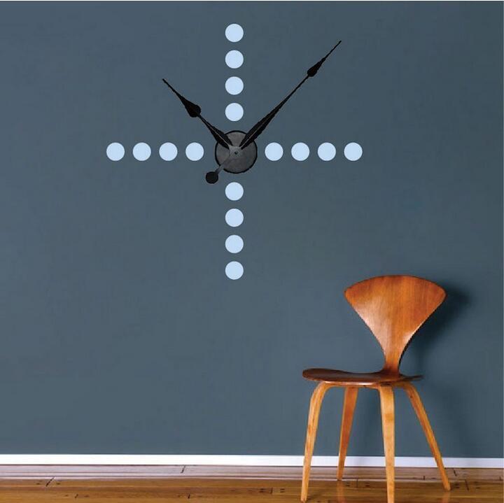 Cross Dots Clock Wall Decals Creative Number Clock Decals Real - Wall decals clock