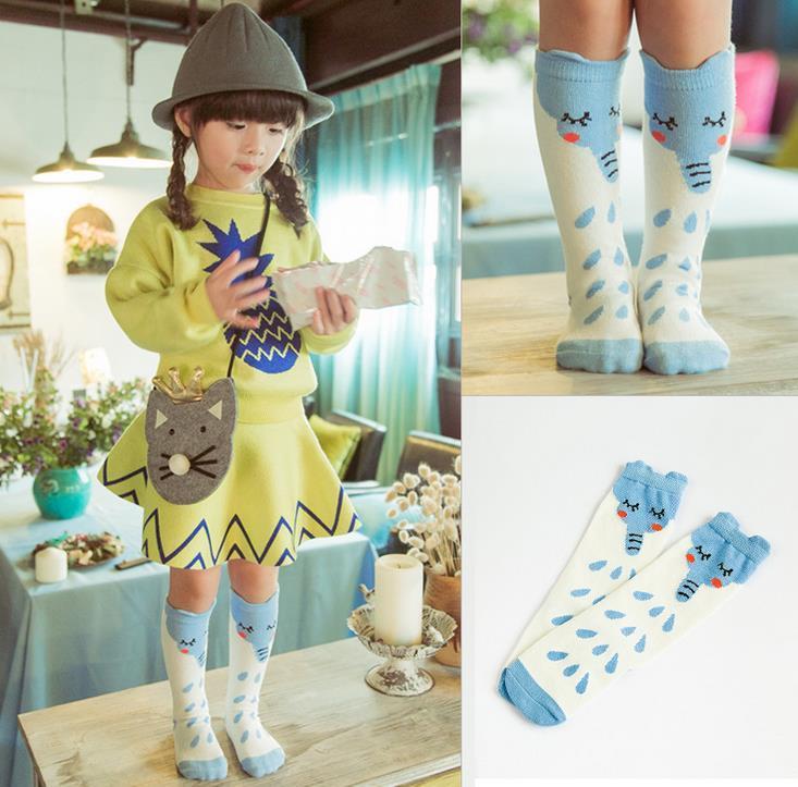New Spring Autumn Kids Cartoon Elephant Socks Boys Girls Cotton