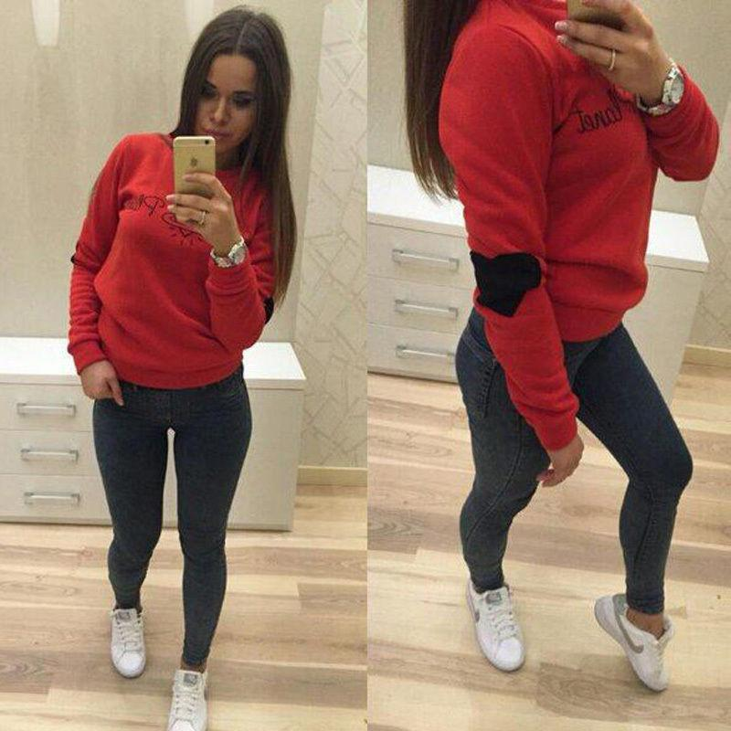 2018 2015 Women Hoody New Fashion Womens Casual Hooded Sweatshirt ...