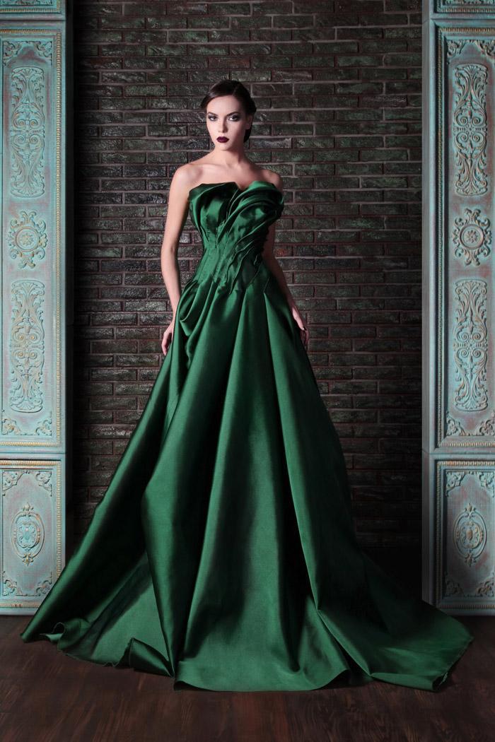 Vestiti da sera lunghi puffy della piega di lunghezza del pavimento senza bretelle dell'abito di sfera senza bretelle del raso verde scuro abitudine più il formato che spedice liberamente Nuovo