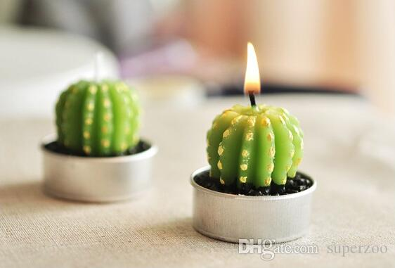 свадебные сувениры партия Валентина подарки душ кактус свечи украшения