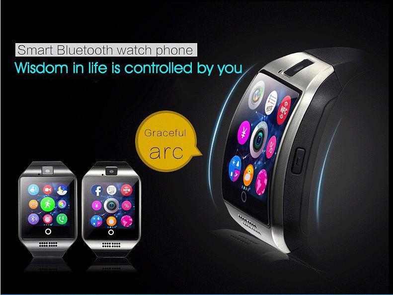 Hohe Qualität Bluetooth Smart Watch Support SIM SD Karten Elektronik Handgelenk Telefon Uhr Für Android Smartphone Blau Grün Rosa Gurt PK Q18