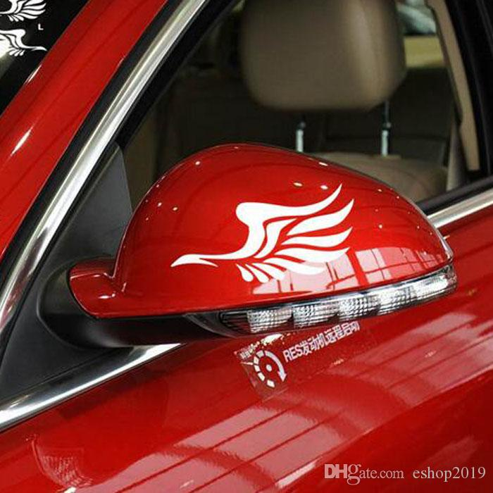 2016 new Angel wings cute stickers rearview mirror car styling car decoration Car Decals & Stickers