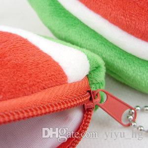 Women Girl Watermelon Zipper Purse Keyring Bag Cute Cosmetic Bag Mini bag Storage bags Make up organizer