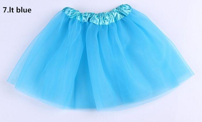 es de calidad superior color caramelo niños tutús falda vestidos de baile vestido de tutú suave falda de ballet 3 capas niños pettiskirt ropa 10 unids / lote.