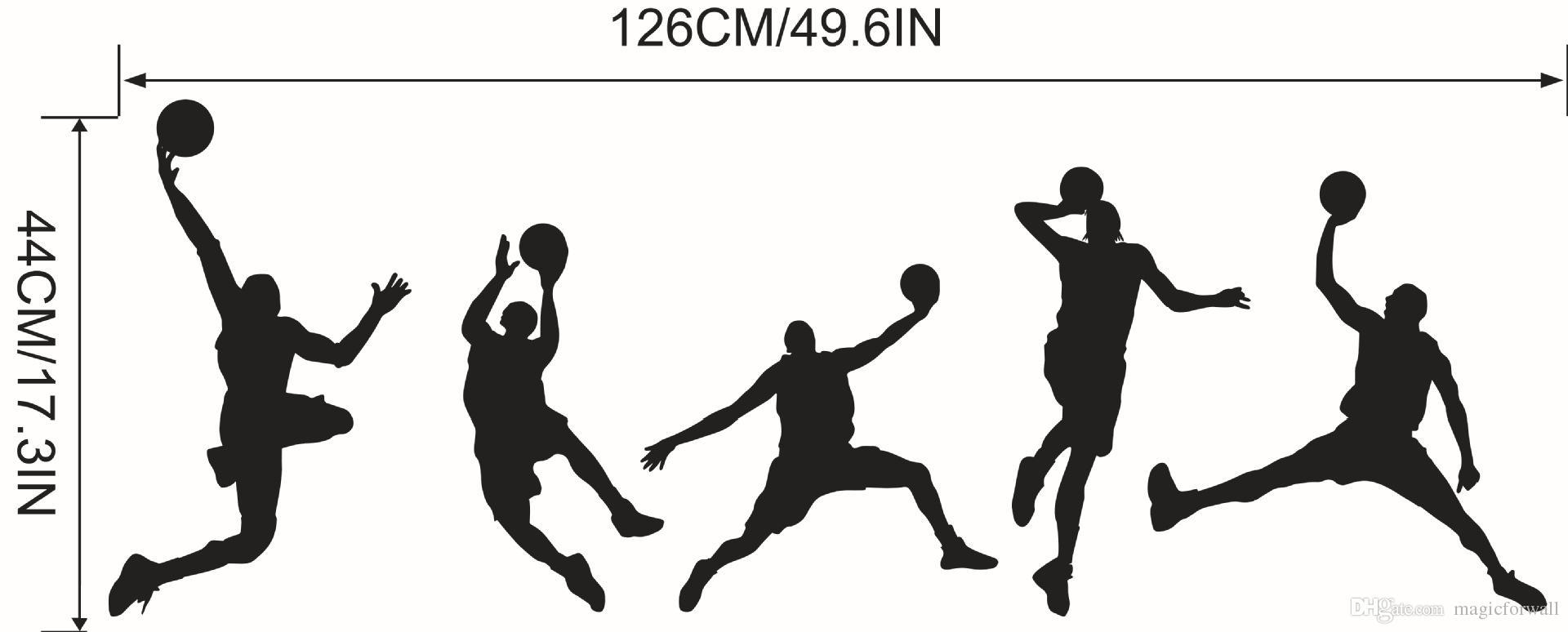 Basketball Match Wall Art Mural Decor Home Decoration Wallpaper Decal Sticker Sport Boys Kids Room Art Poster Graphic