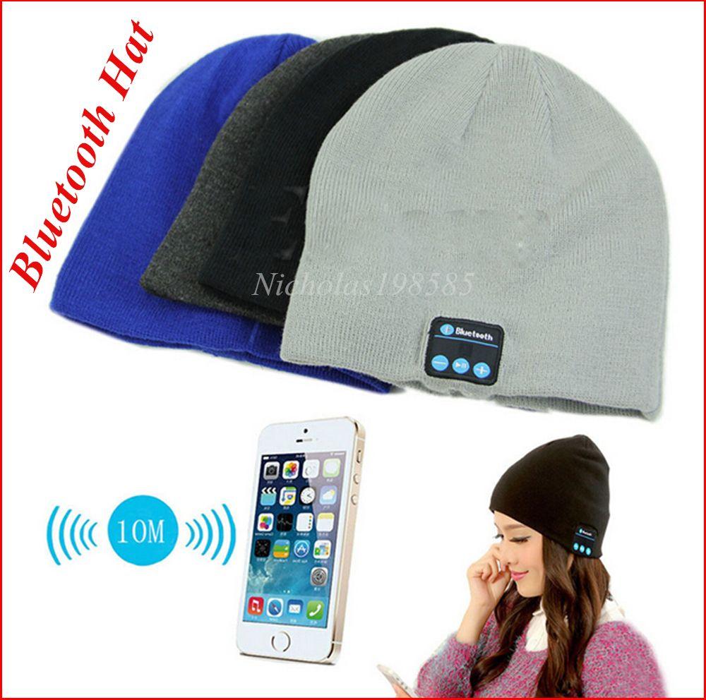 Compre 2015 Bluetooth Beanie Hat Wireless Smart Cap Auriculares ...