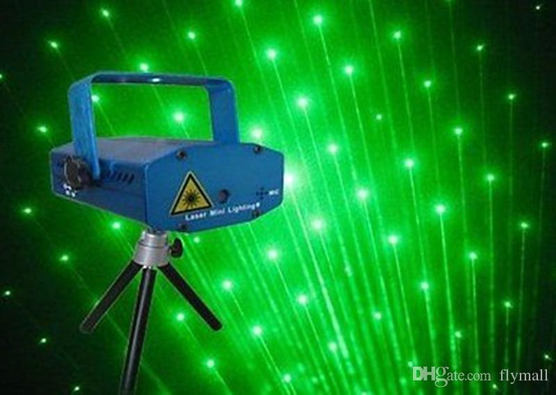 150MW Mini Moving Stage Laser Lights Projectors Starry Sky Red Green LED RG For Music Disco DJ Party Xmas Show Light Projector With Tripod