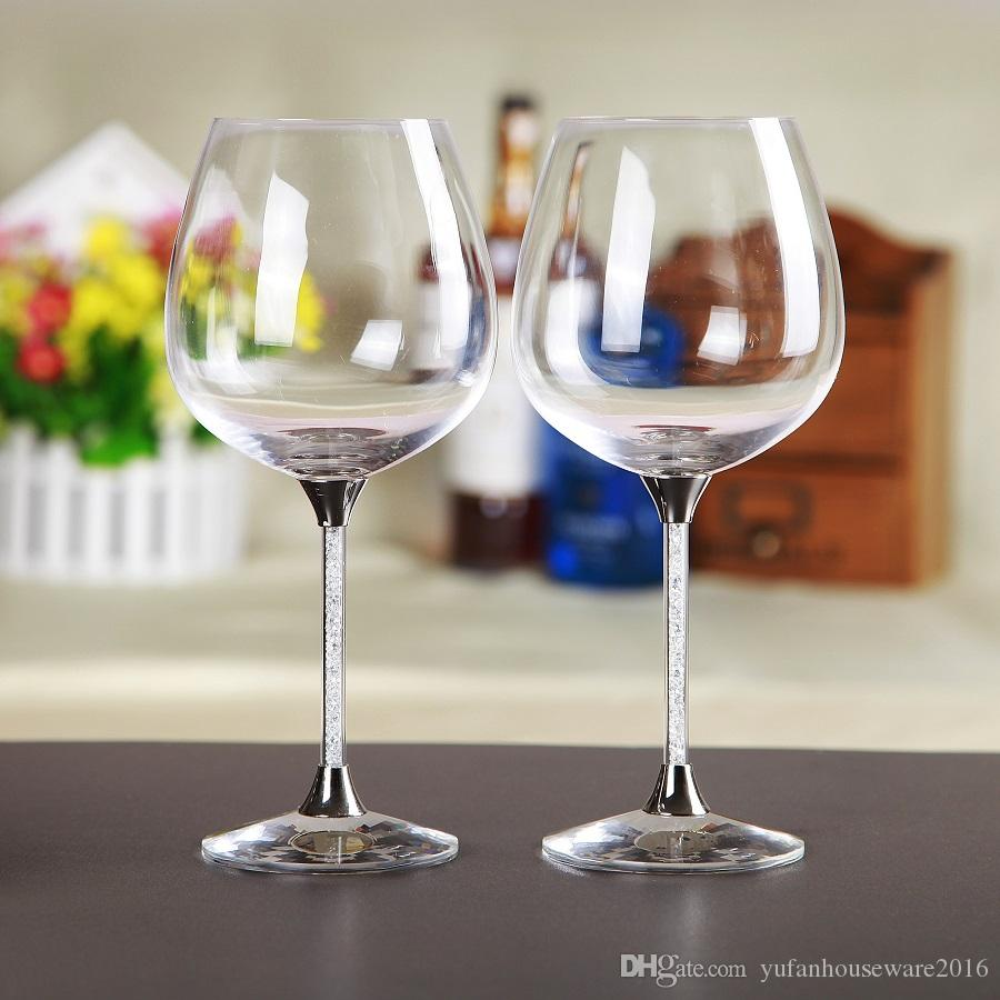 Lead free crystal toasting wine glasses stemware wedding glass home or bar goblet anniversary gift drinking glass cup
