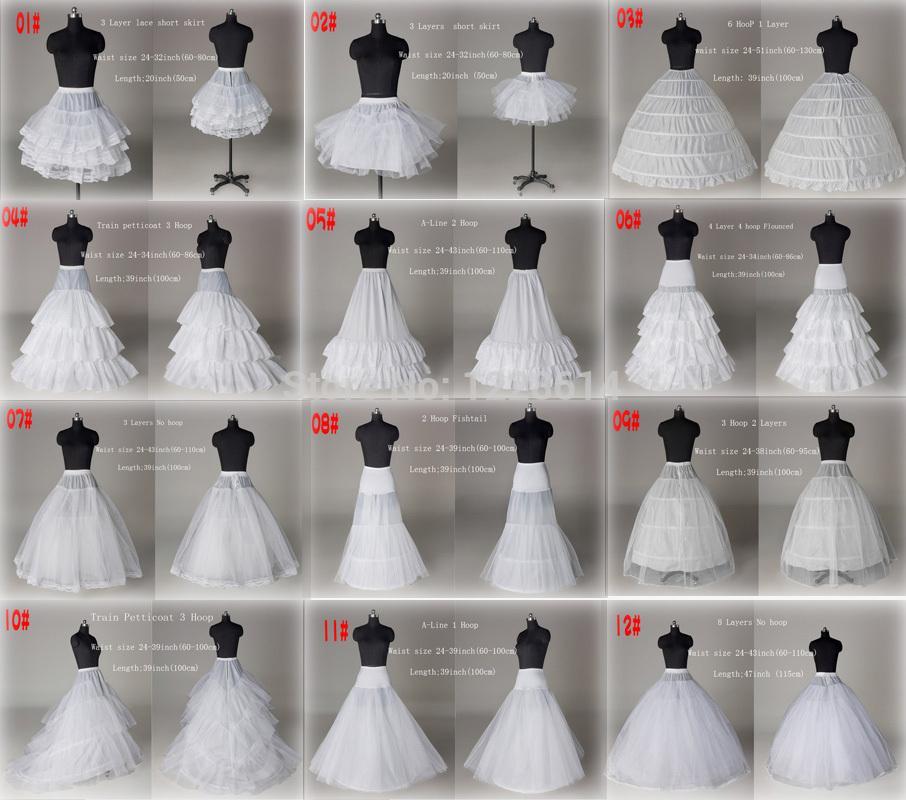 2020 새로운 10 스타일 화이트 A 라인 볼 가운 공주 웨딩 댄스 파티 신부 페티코트 속치마 크리 놀린 웨딩 액세서리 신부의 슬립 드레스