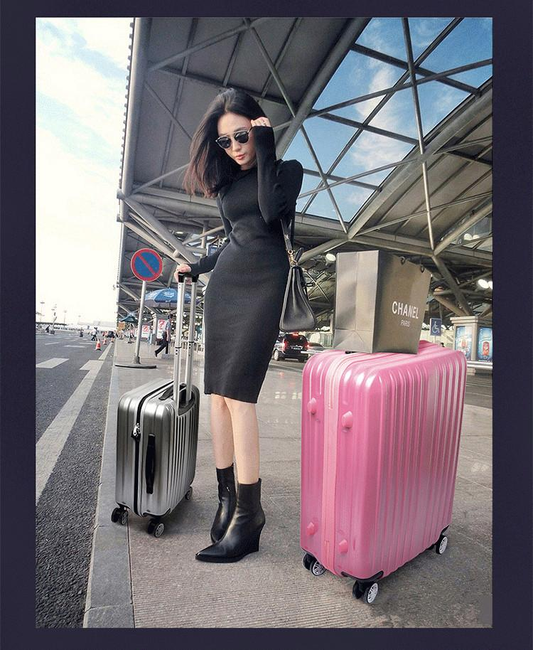 Drawing Cute Convenient Spinner Hardside Luggage Set Rolling ...