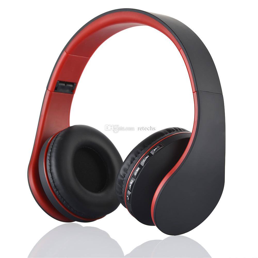 Andoer LH-811 4 in 1 Bluetooth 3.0 + EDR Kopfhörer kabelloses Headset mit MP3-Player FM-Radio Mikrofon für Smartphones PC V126