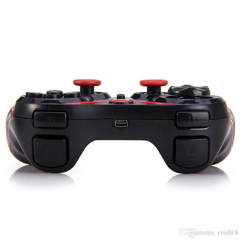 Terios T3 Wireless Bluetooth Gamepad Joystick Game pad Gaming Controller Remote Control for Samsung S6 S7 Android Smart phone Tablet TV Box