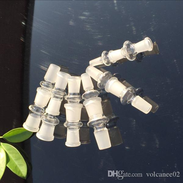 Hookahs Standaard Glass Adapter voor Oil Rigs Bongs en Quartz Banger Nail Converter met slijpmond 10 mm 14mm 18mm duidelijke verbinding