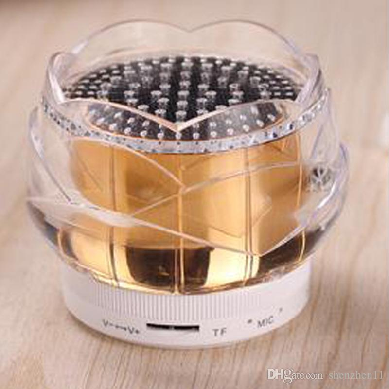 FL01 Crystal Rose Speakers Bluetooth Hand Free Super Bass Mini Portable Wireless Speaker For HTC LG Samsung iPhone DHL Free MIS100