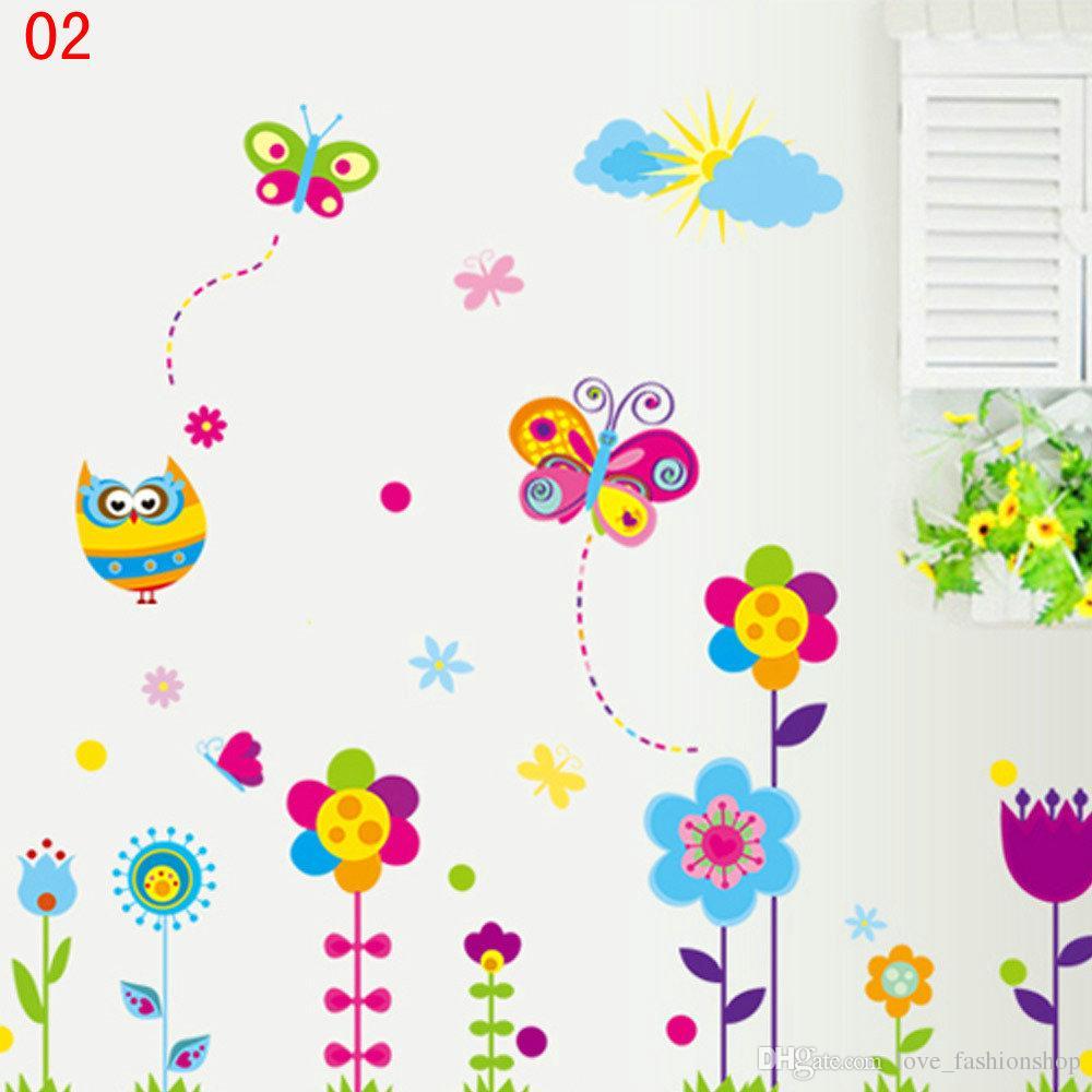 DHL EMS Mix 9 Estilos de Dibujos Animados Extraíbles pegatinas de pared para habitaciones de niños bebés tatuajes de pared wallpaper arte de la pared decoración para el hogar tatuajes de pared