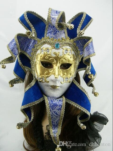 Single package Brazil Carnival mask in the Venice carnival music style Hand  draw three-dimensional grain masquerade mask free shipping FD05
