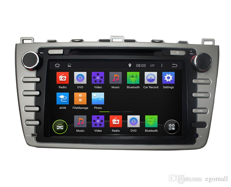 Touch screen capacitivo 100% Android 4.4 8 pollici GPS auto GPS Mazda 6 2008-2012 Supporto DVR OBD costruito in WiFi 3G con Canbus