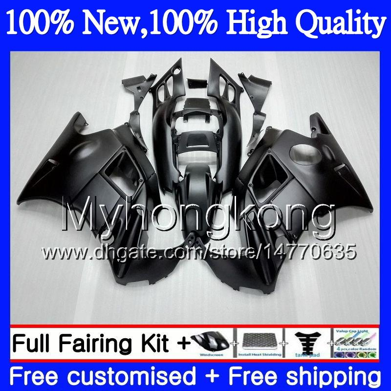 Bodys Motorcycle For HONDA CBR 600F2 Matte black FS CBR600 F2 91 92 93 94 46MY5 CBR600FS CBR 600 F2 91 CBR600F2 1991 1992 1993 1994 Fairing