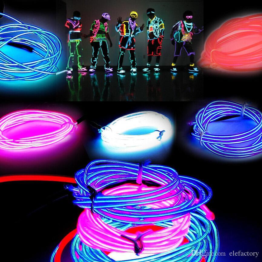 Acheter M Flexible Neon Lumire Lumineux El Cble Tube Flexible