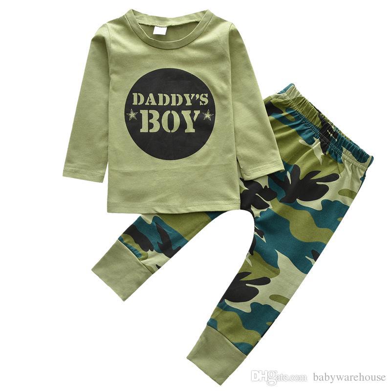 aa3c41b07e06 2019 Cotton Baby Clothing Fashion Camouflage Style Short Long Sleeve ...