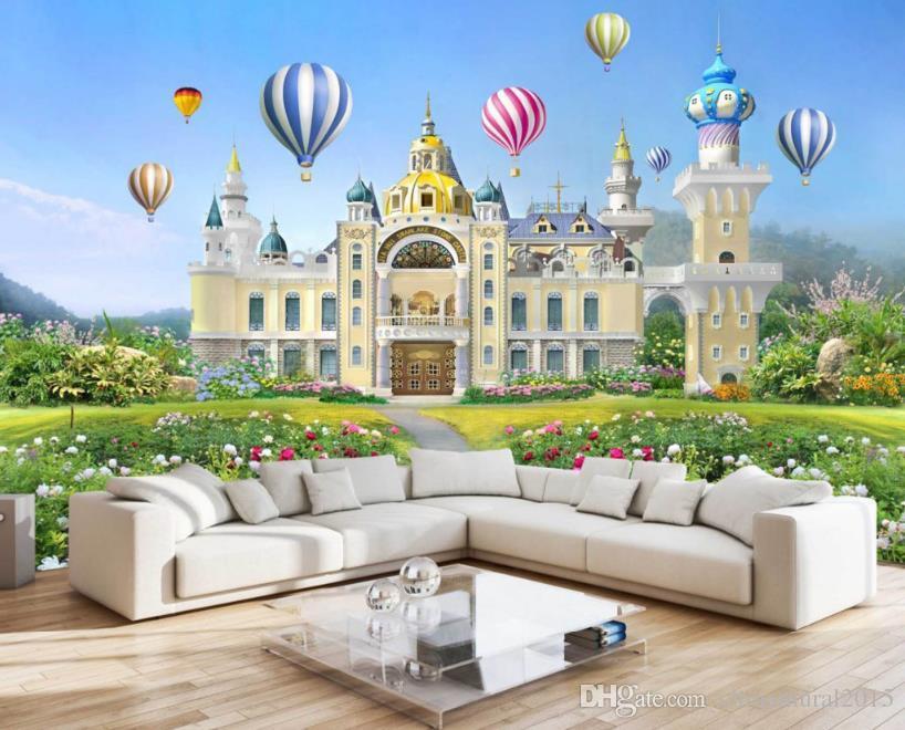 modern style luxurious Wallpaper Mordern Dream Castle TV Backdrop Wallpapers Fashion Mural Wallpaper desktop wallpaper