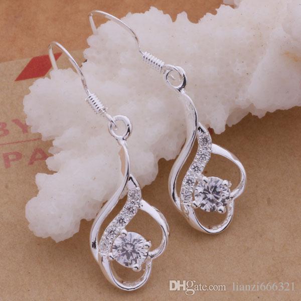 Мода производитель ювелирных изделий 20 шт много элегантный с бриллиантовыми серьгами стерлингового серебра 925 ювелирные изделия цена завода мода блеск серьги