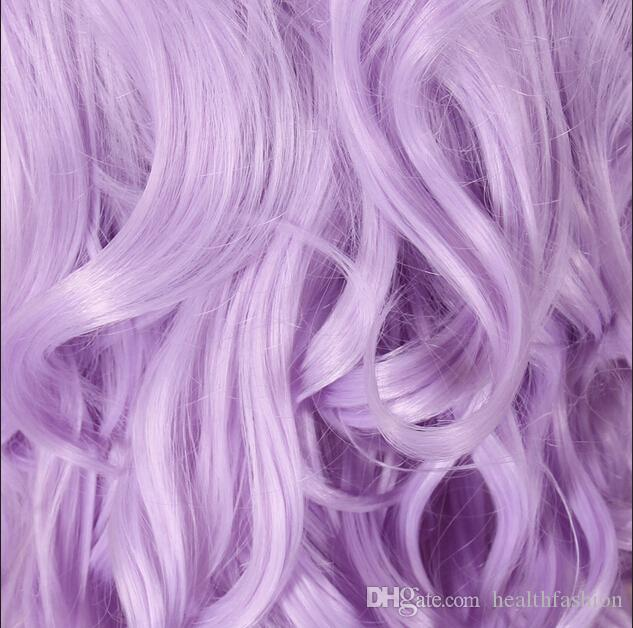 Anime Cosplay wig long purple hair purple hair oblique bangs wig wholesale manufacturers cartoon role play hairwigs