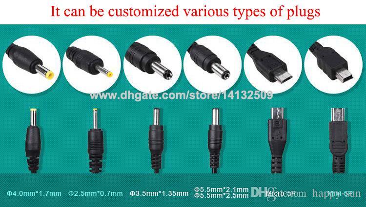 Высокое качество AC 100-240 В DC 12 В 1A адаптер питания 1000mA США / ЕС Plug DC DHL Бесплатная доставка