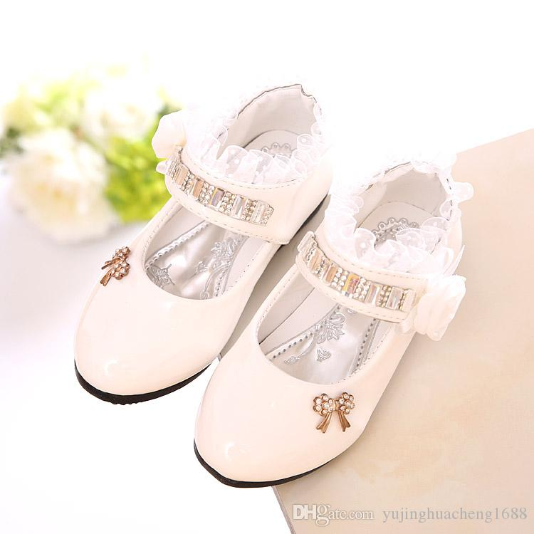 Girls PU Leather Shoes Autumn Party Shoes For Girls Flower Wedding Children  Single Student Princess Baby Shoes Leather Shoes Online with  17.81 Piece  on ... 00258e10b457