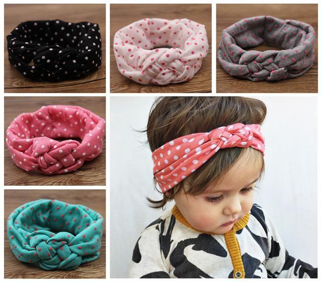 Baby Polka Dot Crochet Headbands Girls Christmas Hair Braided Head Wrap  Infant Cross Style Elastic Headband Babies Boutique Hair Accessories Canada  2019 ... 88f80af5663